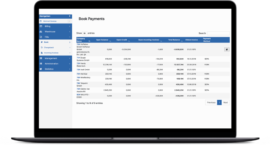 Macbook Online-Shop-Warenwirtschaftssystem